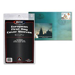 EUROPEAN FIRST DAY COVER SLEEVES