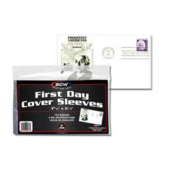 "BCW FDC Cover sleeves 3 15/16"" x 6 7/8"""