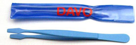 Flat Spade Stamp Tongs Blue 4 1/2""