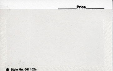 "G&K 4 1/4"" x 2 3/4"", BLANK APPROVAL CARDS WHITE (Per 100)"