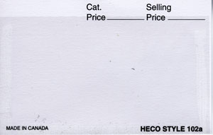 "HECO 4 1/4"" x 2 3/4"", APPROVAL CARDS WHITE 2 (Per 1000)"