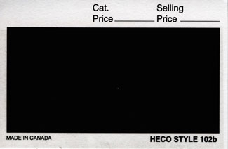 "HECO 4 1/4"" x 2 3/4"" APPROVAL CARDS BLACK 2 (Per 100)"