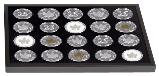 Additional tray to hold another 20 Morgan dollars