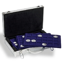 CARGO L6 Coin Case for 251 coins, Alu-Design, including 6 coin t