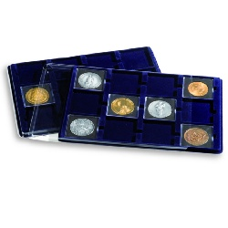 Coin Presentation Trays with 12 spaces for QUADRUM XL