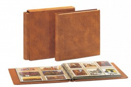 "Deluxe ""Maxi"" Album for Postcards and Documents Binder Tan"