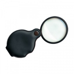 SAFE Folding Pocket Magnifier 3.5x w/glass Lens