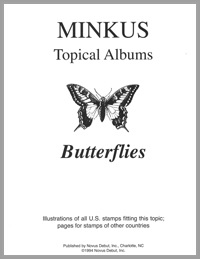 TOPICAL ALBUM PAGES: BUTTERFLIES (6 PAGES)