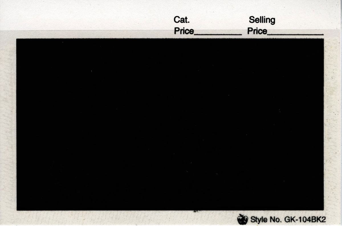 "G&K 4 7/8"" x 3 1/4"", APPROVAL CARDS BLACK 2 (Per 100) - Click Image to Close"