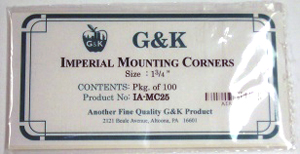 "1 3/4"" IMPERIAL CORNER MOUNTS (Self Adhesive) - Click Image to Close"