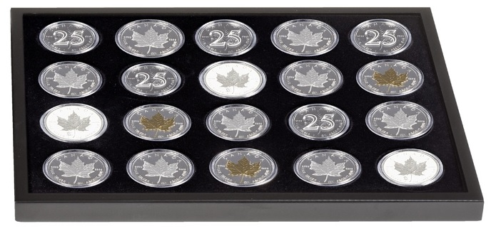 Additional Tray for 20 Canadian Maple Leaf Silver Dollars