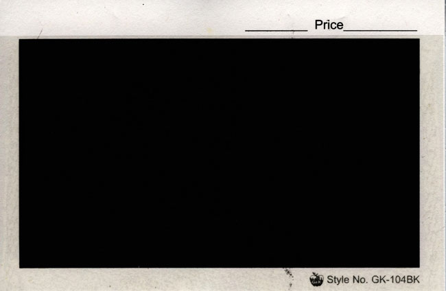 "G&K 4 7/8"" x 3 1/4"", APPROVAL CARDS BLACK (Per 100)"