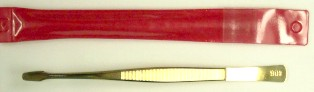 "Tongs, Spade Tip, 6"" Professional Gold"