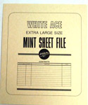 White Ace Mint Sheet File Extra Lg 11 3/8 x 13 1/2""